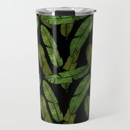 Banana Leaf - Black Travel Mug