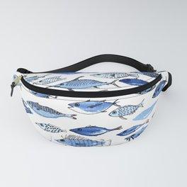 Aquarium blue fishes Fanny Pack