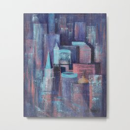 City at Dawn Metal Print