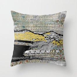 Yellow mountains Throw Pillow