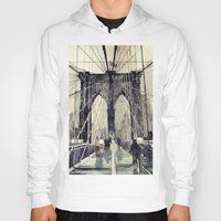 bridge Hoodies featuring Brooklyn Bridge by takmaj