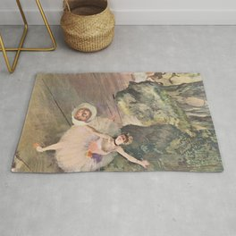 Dancer With A Bouquet Of Flowers The Star Of The Ballet By Edgar Degas | Reproduction | Famous Frenc Rug
