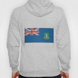 Flag of British Virgin Islands. The slit in the paper with shadows. Hoody