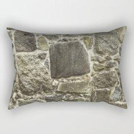 Weathered Stone Wall rustic decor Rectangular Pillow