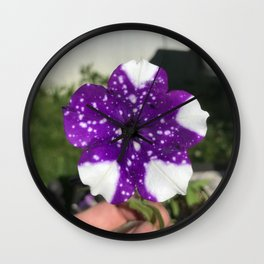 Cosmic Flower Wall Clock