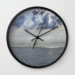 Sun-rays on the Solent. Wall Clock