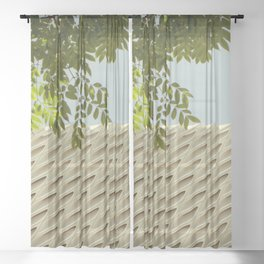The Broad In the Afternoon Vintage Retro Photography II Sheer Curtain