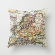 Vintage Maps Throw Pillow