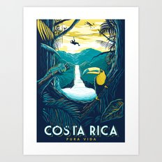 costa rica rainforest Art Print