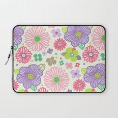 happy flowers Laptop Sleeve