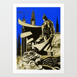 The caped crusader  Art Print