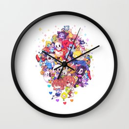 UNDERTALE MUCH CHARACTER Wall Clock