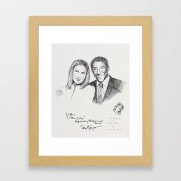 Diana Krall and Tony Bennett Framed Art Print