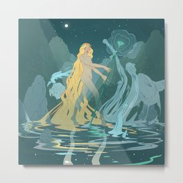 Nymph of the river Metal Print