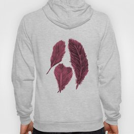 Feather Collection pattern - bordeaux Hoody