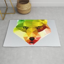 Glass Animal - FOX head Rug