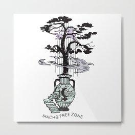 Macho Free Zone Metal Print