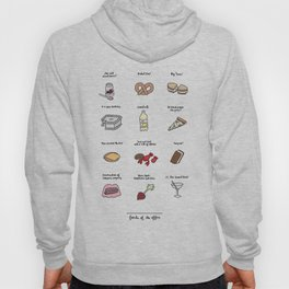 Foods of The Office Hoody