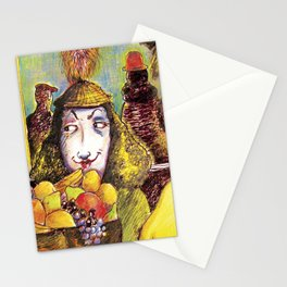 Fruit Hats and Feathers Stationery Cards