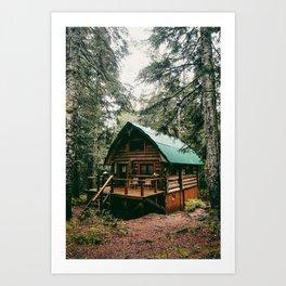 Log Cabin in the Woods Art Print