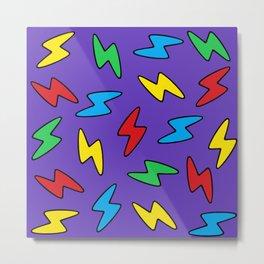 90's Bolt Metal Print