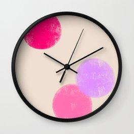 Let's Appreciate Our Shapes no.13 - pink minimal art Wall Clock