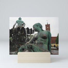 Neptunbrunnen Mini Art Print