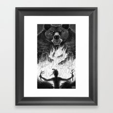 The Passing of Fire from Bear to Man Framed Art Print