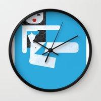 bikini Wall Clocks featuring Bikini (06) by Marco Recuero