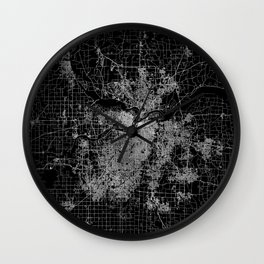 Kansas City map Wall Clock