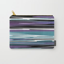 Abstract stripes in blue Carry-All Pouch