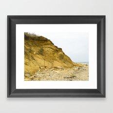 Montauk Beach Sand Dune Framed Art Print