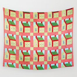 School House Quilt Wall Tapestry