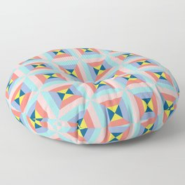Abstract colorful crystals Floor Pillow