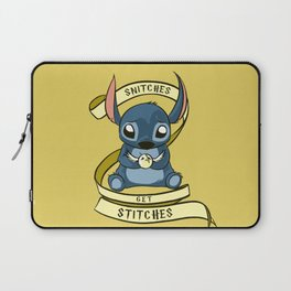 Snitches Get Stitches Laptop Sleeve