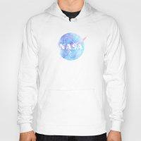 nasa Hoodies featuring NASA by avoid peril