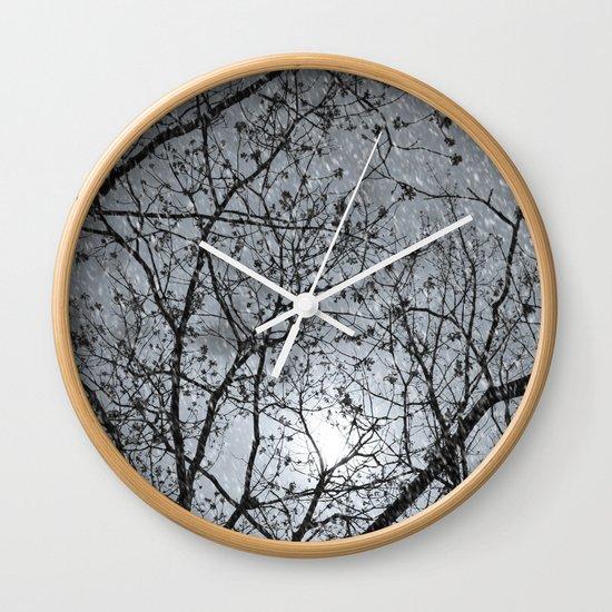 Oh Snowy Night Wall Clock