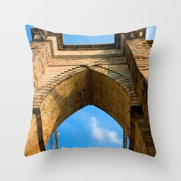 Brooklyn Bridge Architecture Throw Pillow