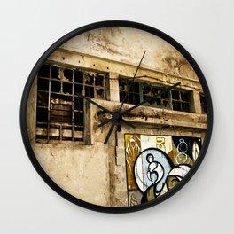 Facade at the port of Porto Wall Clock
