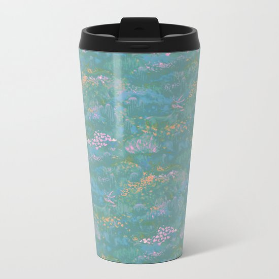 Blue Life in Death Valley Metal Travel Mug