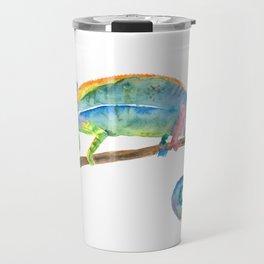 Watercolor chameleon Travel Mug