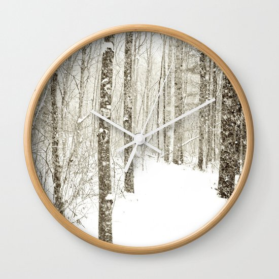 Wintry Mix Wall Clock