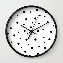 Seamless Black Dots Pattern Wall Clock