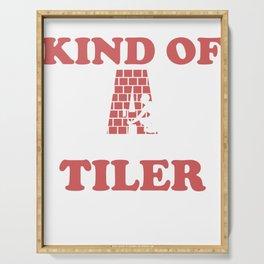 tilers tiles gift profession handicraft job Serving Tray