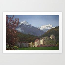 Gateway to the Alps Art Print