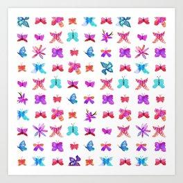 Teeny Butteflies Art Print