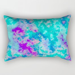 Turquoise and purple cloud art Rectangular Pillow