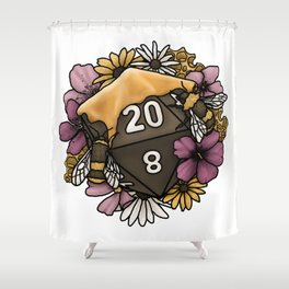 Honeycomb D20 Tabletop RPG Gaming Dice Shower Curtain