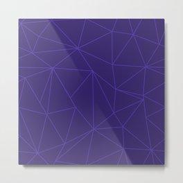 Purple Blue Geometric Pattern Metal Print