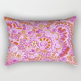 Pink + Orange = YES Rectangular Pillow